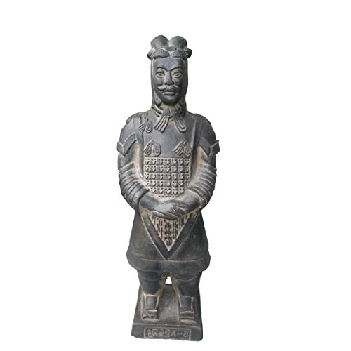 Ji Xin Yu Guerreros de Terracota, Antigua dinastía Qin Guerreros de Terracota y Caballos Escultura Pantalla de Escritorio for el hogar Decoración de Regalo de 8.5 Pulgadas (Color : General)