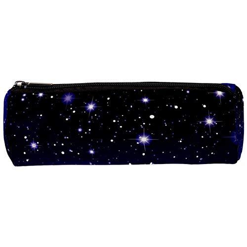 Starry Sky Space Galaxy Estuche para lápices con cremallera, organizador de monedas, bolsa de papelería, bolsa de maquillaje para mujeres, adolescentes, niñas, niños y niños