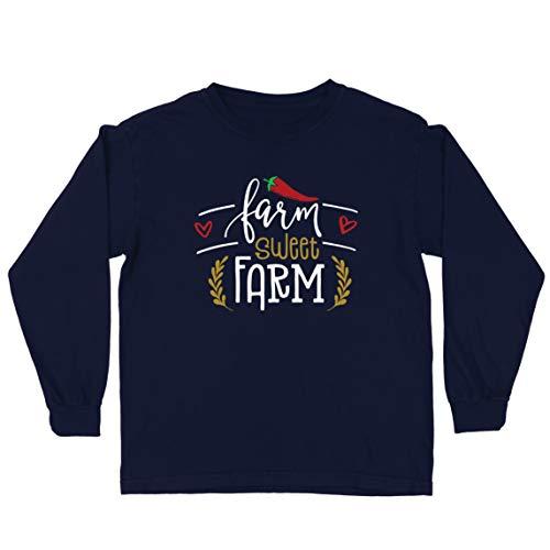 lepni.me T-Shirt Bambini/Ragazze Fattoria Sweet Farm Eco Natura (14-15 Years Azzulo Multicolore)