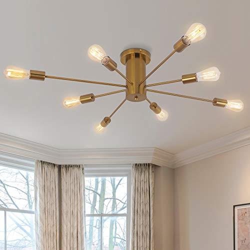 Lámpara colgante de comedor de metal Lámparas de araña de acero moderno...