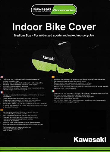 Kawasaki, telone di copertura per moto, per ambienti interni, taglia L. -