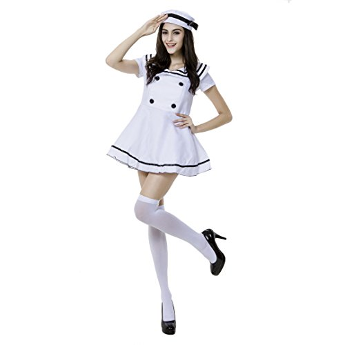 VENI MASEE Ladies Sexy Sailor Girl Pinup Navy Uniforms Halloween Fancy Dress Costume