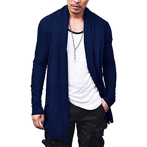 Cardigan Blusa de Frio Sobretudo Masculino – Slim Fitness – Azul Marinho EGG