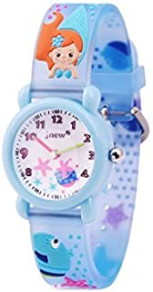 Wolfteeth Analog Girls Toddlers School Day Wrist Watch with Second Hand Cute Small Face Round Dial Water Resistant Little ...