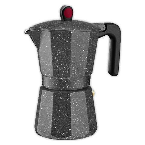 Cafetera italiana MONIX ROCK 6 tazas | MONIX Induccion Vitro Gas Electrico