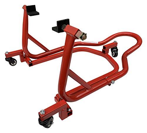 RSTT RicambiWeiss Motorrad Ständer Rangierhilfe Universell Montage Dolly Mover hinten 360° Rot