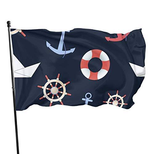 HJEMD Lustige Flagge skandinavische Katze Polyester Flagge Garten Dekor langlebig lichtbeständig 3 x 5 Fuß Flagge mit Messing Ösen4