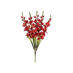 RED Gladiolus Bush Artificial Silk Flowers 32″ Bouquet 5-2001 RD