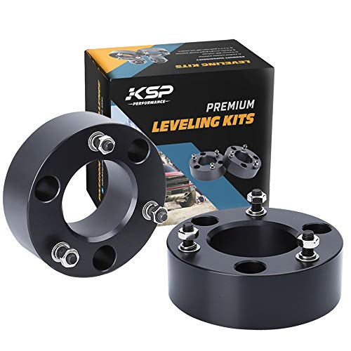 "KSP 3"" Front Leveling Kits for Chevy Silverado 1500 2WD/4WD 2007-2019, GMC Sierra 2WD/4WD 2007-2019, 3 Inch Suspension Strut Spacers Lift Kits for Pickup with 6 Lug"