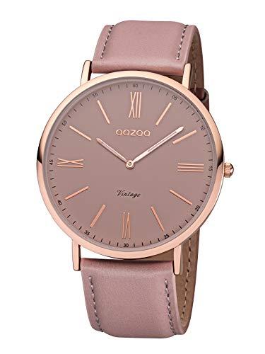 Oozoo Montre Femme Analogique Quartz avec Bracelet en Cuir – C7342