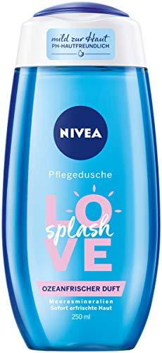 Nivea Love Splash verzorgende douchegel (250 ml), verfrissende douchegel met natuurlijke zeemineralen, pH-huidneutrale douche met oceaanfrisse geur