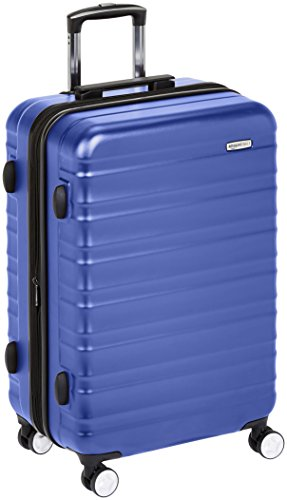 AmazonBasics Premium Hardside Spinner Luggage with Built-In TSA Lock - 30-Inch, Blue