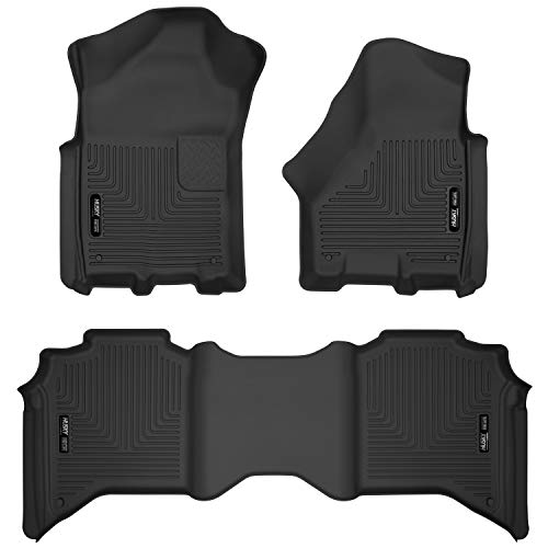 Husky Liners Fits 2019-20 Dodge Ram 3500 Crew Cab X-act Contour Front and 2nd Seat Floor Liners