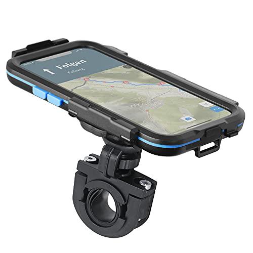Wicked Chili Tour Case 3.0 kompatibel mit iPhone 12/12 Pro/wasserdicht/Kugelgelenk 360 Grad Halterung/Schutzhülle passgenau und abnehmbar/Displayschutz Handyhalterung für Fahrrad/Motorrad