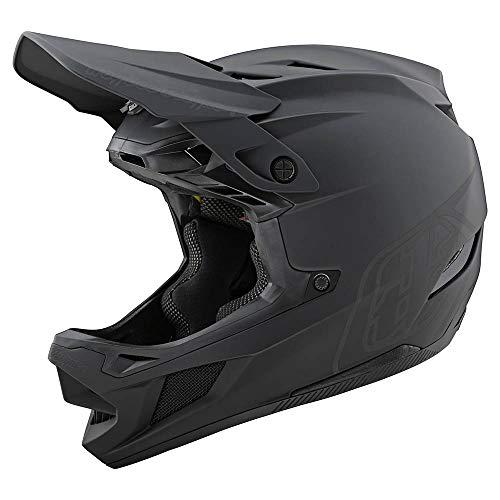 Troy Lee Designs Adult   BMX   Downhill   Mountain Bike   Full Face D4 Composite MIPS Stealth Helmet (Medium, Black/Gray)