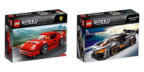 Steinchenwelt Lego Speed Champions 75890 Ferrari F40 Competizione + 75892 McLaren Senna - Juego de 2 jugadores