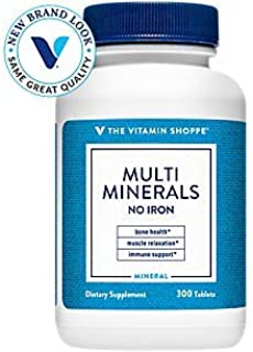 Multi Minerals with Boron Vitamin D No Iron 300 Tablets by The Vitamin Shoppe