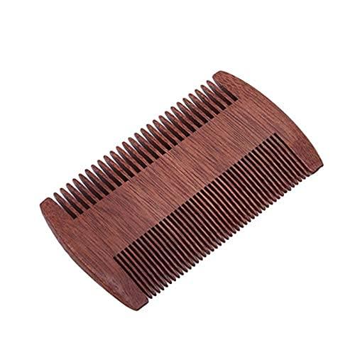 YNHNI Peine de madera 1 PC bolsa de madera peine Super estrecho Dent peines de madera no piojos estáticos mascota barba peine herramienta de peinado