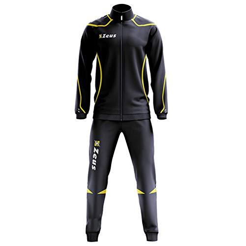 Zeus Relax Fauno Herren Sportanzug Trainingsanzüge Running Laufen Training Sport Set Trikot Hosen Blau Gelb (M)