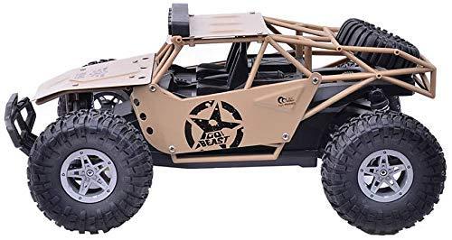 han han Coche de Control Remoto, Control Remoto para niños Coche 1/16 4WD Camión Militar Fuera de la Carretera Alloy RC Car 2.4GHz Control Remoto Racing RTR Desierto Buggy Racing RC Coche Juguete