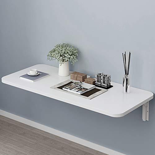 LTLCLZ Mesa plegable flotante montada en la pared, mesa de comedor con hojas gota, mesa de trabajo, escritorio pequeño de madera para oficina, hogar, cocina, 60 x 50 cm
