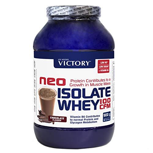 Neo Iso Whey 100CFM 900gr Chocolate. 100% aislado de proteina de suero. Sin grasas. Para dietas keto.