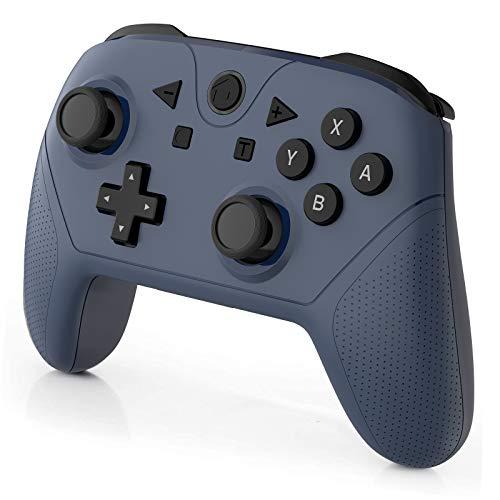 Switch Pro Controller für Switch/Switch Lite, Wireless Remote Pro Controller Gamepad Joystick mit NFC und Turbo, Motion Colntrol Dual Vibration(Blau)