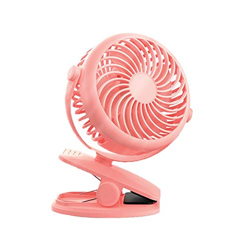 Clip on Fan, 360° Rotation, USB Powered Clip on Desk Fan Mini Portable Table Fan Personal Fan for Baby Stroller Office Outdoor Travelpink