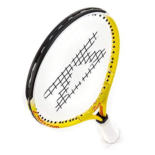 ZSIG Children's Mini Tennis Racket - 17 inch, Yellow/White