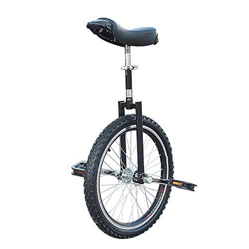 Einrad Kinder/Kinder/Jungen (8/10/12/14/18 Jahre Alt) Einrad, Erwachsene/Super-Tall 24-Zoll-Radsport Balance Cycling, mit Rutschfestem Reifen (Color : Black, Size : 24inch)