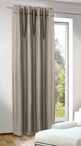 276008 Albani-Deko-Schal mit Gardinenband und verdeckten Schlaufen-DimOut/Jolie leinen / 245x135 cm, Stoff