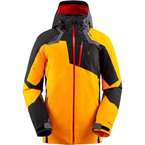 Spyder Leader Gtx Jacket Colorblock-Orange-Schwarz, Herren Gore-Tex Isolationsjacke, Größe XXL - Farbe Flare