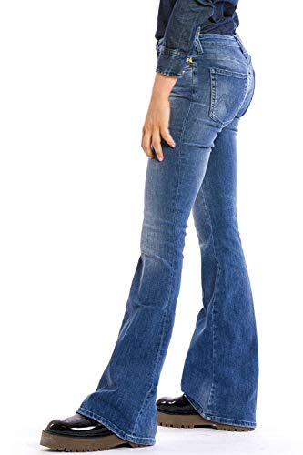 Meltin'Pot Nika Bootcut Jeans, Blu (Denim Blue), W30/L34 (Taglia Produttore:30) Donna