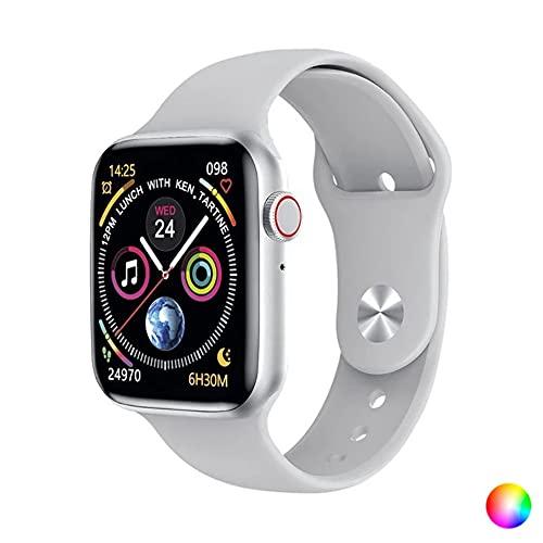 """KSIX Reloj Inteligente Urban 2 para MujerBlanco. Smartwatch Táctil 1.75"""" IPS Impermeable con Bluetooth. Pulsera de Actividad para Android iOS con Podómetro, Pulsómetro y Monitor de Sueño"""