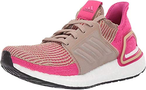 adidas Women's Ultraboost 19 Running Shoe, Trace Khaki/real magenta/shock Pink, 6 M US