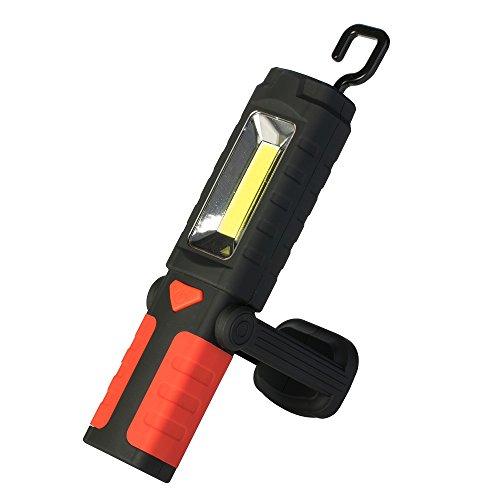 Poly Pool pp3163 Ultra LED COB Lampe de travail multifonctionnelle, rouge/noir