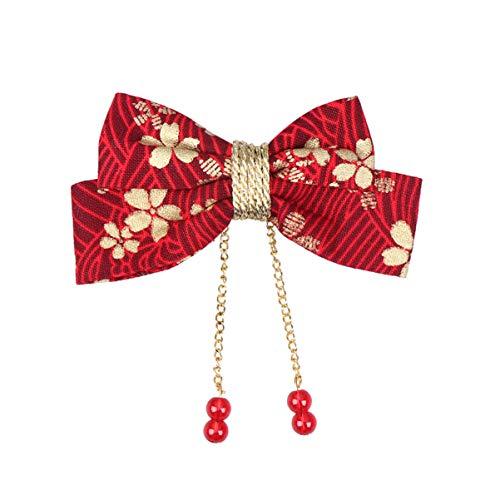 Holibanna Chinesische Traditionelle Haarspange Vintage Haarschleife mit Hängender Quaste Chinesisches Neujahrskostümzubehör für Mädchen Frauen