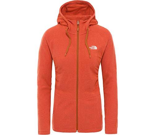THE NORTH FACE Mezzaluna Full-Zip Hoodie Damen Sunbaked red Stripe Größe XL 2020 Jacke
