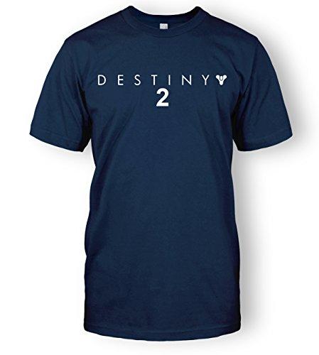 Destiny 2 T-Shirt Destiny Logo Guardian Bungie Top Tee (X-Large, Navy Blue)