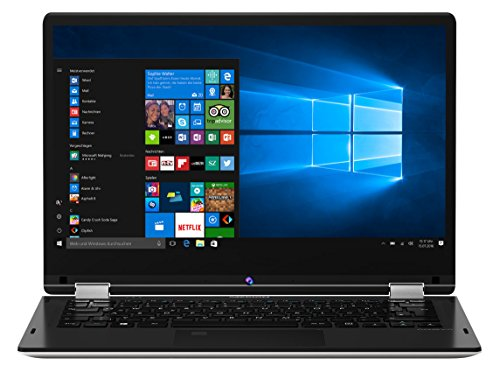 MEDION E3216 33,8 cm (13,3 Zoll Full HD Display) Convertible Touch-Notebook (Intel Pentium N4200, 4GB RAM, 64GB Flash, Win10 Home)