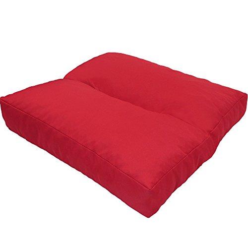 DILUMA Coussin d'assise LoungeWave pour Jardin - Coussin Outdoor Anti-salissants pour bancs, sièges en pallete, Chaise de Jardin, Taille:40 x 40 cm, Couleur:Rouge