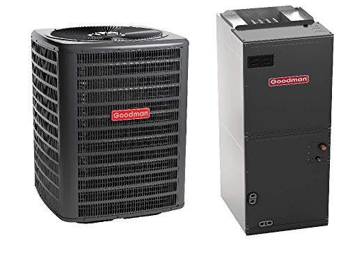 Goodman 2.5 Ton 14 SEER Heat Pump GSZ140301, Upflow, Downflow, Horizontal Air Handler ARUF29B14