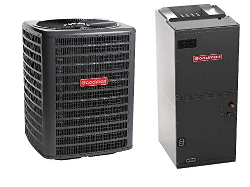 Goodman 2.5 Ton 14 SEER Heat Pump GSZ140301, Upflow, Downflow, Horizontal Air Handler ARUF29B14