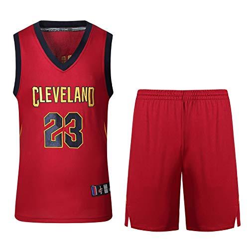 JAG Camiseta de Baloncesto para Hombre y Unisex - Uniforme de Baloncesto de Verano NBA Cavs # 23 James Fan Edition Jersey - Top y Pantalones Cortos sin Mangas con Bordado clásico