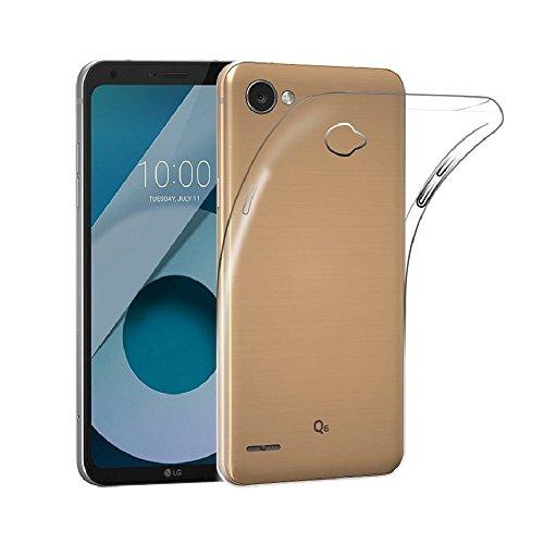 REY Funda Carcasa Gel Transparente para LG Q6 / Q6 Alpha / Q6 Plus, Ultra Fina 0,33mm, Silicona TPU de Alta Resistencia y Flexibilidad