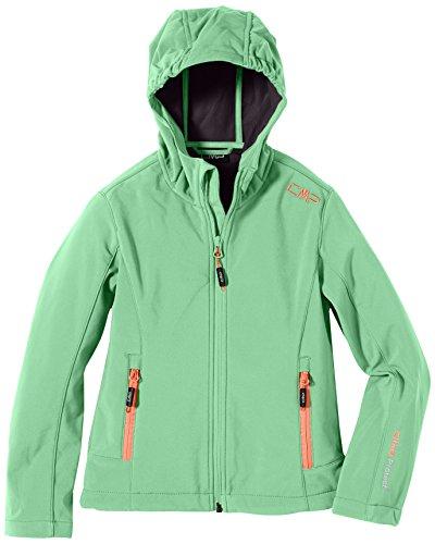 CMP Softshelljacke 3A29385N, Giacca Bambina, Verde (Green Tea), 128 cm
