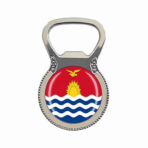 Kiribati-Flagge Bierflaschenöffner Kühlschrank Magnet Metall Glas Kristall Reise Souvenir Geschenk Heimdekoration