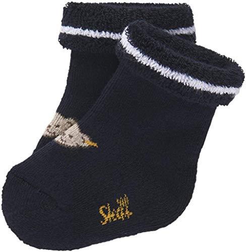 Steiff Baby Jungen Vollfrottee Socken mit Teddy 17113 (62/68, Nachtblau)