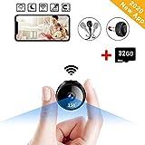 32GB WiFi Spy Camera Wireless Mini Hidden Camera,1080P Portable Security Camera with App