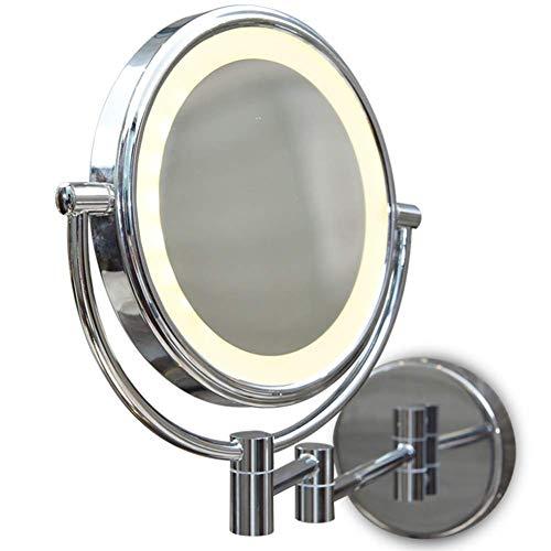 ZNDDB LED-Licht an der Wand befestigtes Badezimmer doppelseitig kosmetikspiegel 8-Zoll für Spa und Hotel